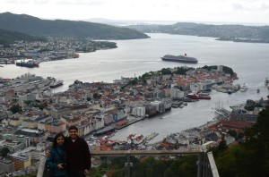 View of Bergen from Mt. Floyen